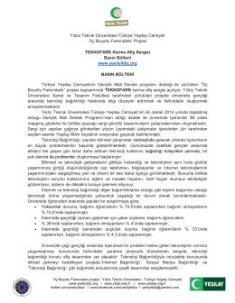 Yıldız Teknik Üniversitesi-Türkiye Yeşilay Cemiyeti `Üç Boyutlu