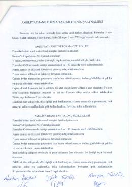 Ihaleler/FORMA TEKNİK ŞARTNAMESİ