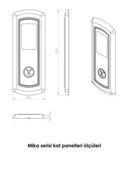Mika serisi kat panelleri ölçüleri