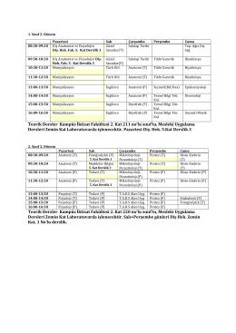 Teorik Dersler Kampüs İktisat Fakültesi 2. Kat 211 no`lu sınıf`ta