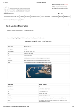 Türkiyedeki Marinalar