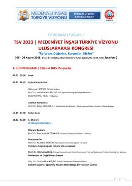 TSV 2023 | MEDENİYET İNŞASI TÜRKİYE VİZYONU