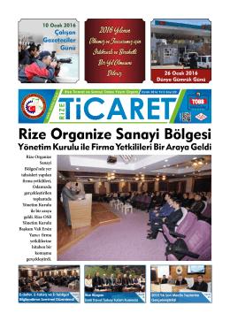 Rize Organize Sanayi Bölgesi - Rize Ticaret ve Sanayi Odası