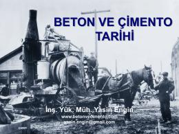 BETON VE ÇİMENTO TARİHİ