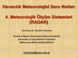 Meteoroloji ölçüm sistemleri - Havacılık ve Uzay Bilimleri Fakültesi