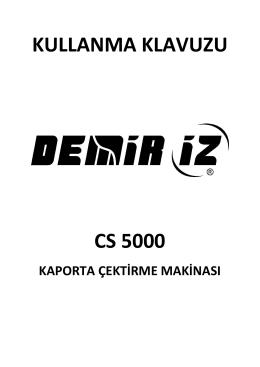 CS 5000 - Kullanma Kılavuzu