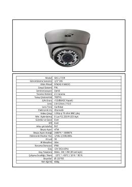 Model SDC-L715R Görüntüleme Sensörü 1/3`` DIS Etkin Piksel 976