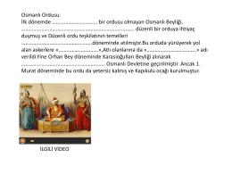 Konu:Osmanlı Devletinde Ordu