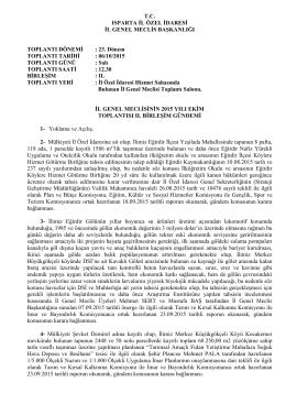 2015 ekim 2.gundem - Isparta İl Özel İdaresi
