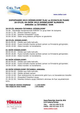 EXPOPHARM 2015 DÜSSELDORF İLAÇ ve ECZACILIK FUARI 29