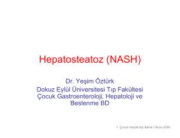 Nonalkolik Steatohepatitis - Prof. Dr. Yeşim Öztürk, MD.