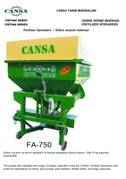 Fertilizer spreader-Gübre serpme makinası