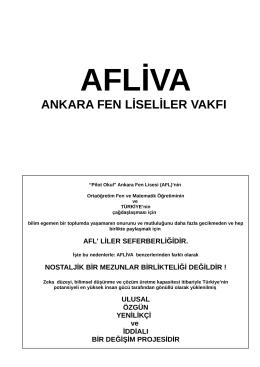 AFLİVA tanıtımı - Ankara Fen Liseliler