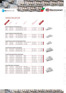 Electrostart Fiyat Listesi