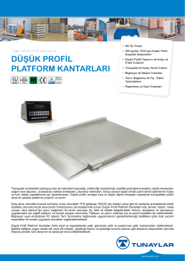 Düşük Profil Platform Kantarları Broşür