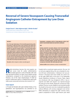 Reversal of Severe Vasospasm Causing Transradial Angiogram