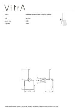 Tanım : Arkitekta Kapaklı Tuvalet Kağıtlığı+Yedeklik Kod