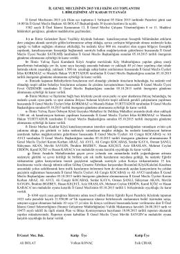 2015 ekim 1.birleşim karar tutanağı