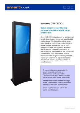 Dijital reklam ve içeriklerinizi sunmak için dikine büyük ekran totem