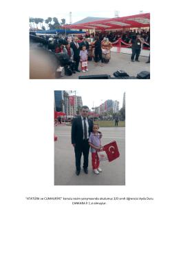 atatürk ve cumhuriyet konulu resim yarışması 2015