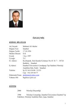 Mehmet Ali Akalın - Türk Nöroloji Derneği