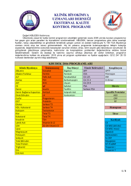 2016 yılı programlarına ilişkin detaylı bilgi ve Başvuru Formu