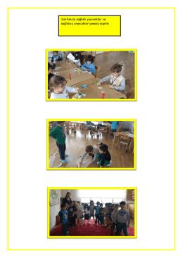 Sınıfımıza sağlıklı yiyecekler ve sağlıksız yiyecekler
