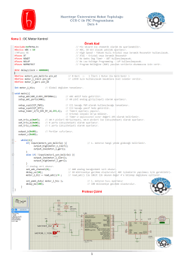 1 Konu 1 : DC Motor Kontrol Örnek Kod Proteus Çizimi