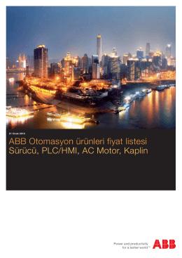 ABB Otomasyon ürünleri fiyat listesi Sürücü, PLC/HMI, AC Motor