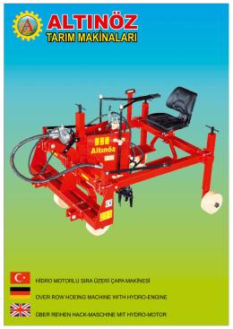 Hidro Motorlu Sıra Üzeri Çapa Makinası