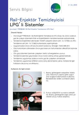 Rail-Enjektör Temizleyicisi LPG`li Sistemler