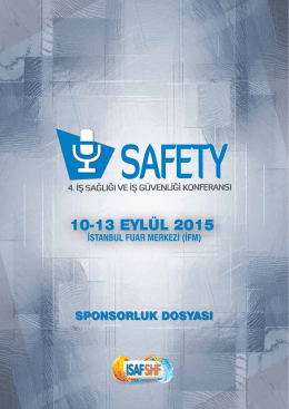 10-13 eylül 2015 - Safety Konferansı