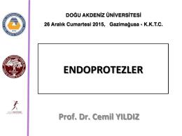 ENDOPROTEZLER - Prof. Dr. Cemil YILDIZ