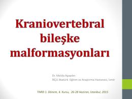 Kranio-servikal bileşke malformasyonları
