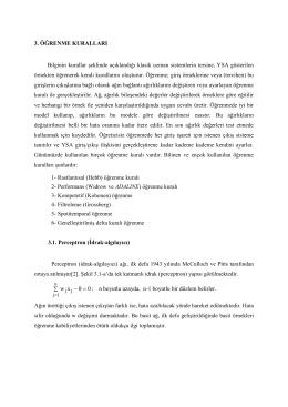 3. ÖĞRENME KURALLARI Bilginin kurallar şeklinde açıklandığı