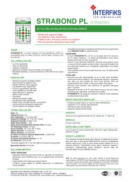 STRABOND PL - İnterfiks Yapı Kimyasalları