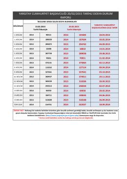 yargıtay cumhuriyet başsavcılığı 20/02/2015 tarihli dosya durum