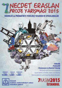 Yarışma Programı - VII. Necdet Eraslan Proje Yarışması 2015