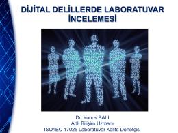 dijital delillerde laboratuvar incelemesi