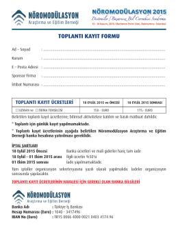 Toplantı Kayıt Formu