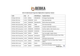 2015 Yılı Mali Destek Programları Bilgilendirme Toplantıları