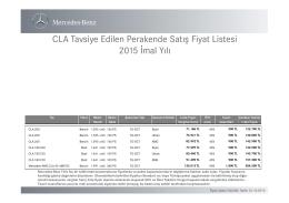 CLA Serisi - Otomobil Tavsiyesi