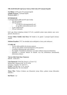 NBL Krill Oil Krill Yağı İçeren Takviye Edici Gıda (30