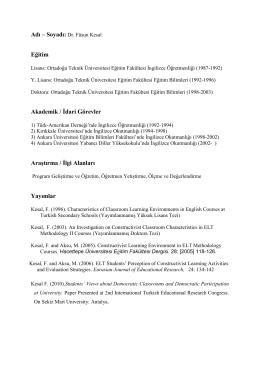Kişisel PDF Dosyası - Ankara Üniversitesi