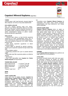 Capatect Mineral Kaplama (Çizgi Doku)