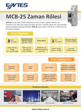 MCB-25 Zaman Rölesi