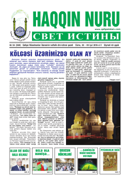 """""""Haqqın nuru"""" № 24 (269) 02 - 09 iyul 2015"""