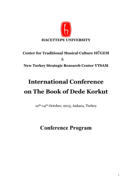 ınternatıonal conference on the book of dede korkut