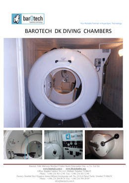 barotech dk dıvıng chambers - Barotech Your Partner in Hyperbaric