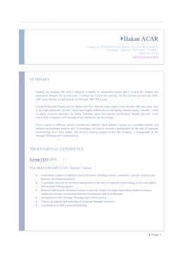 resume as PDF format